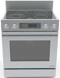 "DR30EFS Dacor Distinctive 30"" Freestanding Electric Range, in Stainless Steel with Flush Handle, and 6"" Backguard with Full-Depth Side Panels Full Side Panels - Stainless Steel"