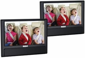 "DRC79982 RCA 9"" Dual Screen Mobile DVD System with Headrest Mounting Straps"