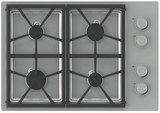 "DTCT304GWLP Dacor Distinctive 30"" Gas Cooktop with 4 Burners and Liquid Propane - White"