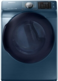 "DV45K6200GZ Samsung 27"" 7.5 Cu. Ft. Azure Blue Gas Dryer with Multi-Steam Technology and 12 Preset Dry Cycles - Blue"