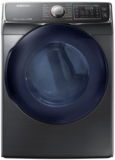 """DV45K6500GV Samsung 27"""" 7.5 cu. ft. Gas Dryer with 14 Dry Cycles and  Multi-Steam Technology - Black Stainless"""