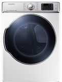 DV56H9100GW Samsung 9.5 cu. ft. Capacity Gas Front Load Dryer with Vent Sensor - White