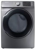 """DVG45M5500P Samsung 27"""" 7.5 Cu. Ft. Gas Dryer with Wrinkle Prevent Option and Multi-Steam Technology - Platinum"""