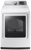 """DVG50M7450W Samsung 27"""" 7.4 cu. ft. Gas Dryer with Wrinkle Prevent Option and Multi-Steam Technology - White"""