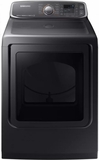 """DVG52M7750V Samsung 27"""" 7.4 cu. ft. Capacity Gas Dryer with Multi-Steam Technology and Wrinkle Prevent Option - Black Stainless Steel"""