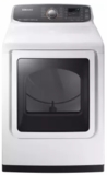 """DVG52M7750W Samsung 27"""" 7.4 cu. ft. Capacity Gas Dryer with Multi-Steam Technology and Wrinkle Prevent Option - White"""