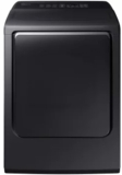 """DVG52M8650V Samsung 27"""" 7.4 cu. ft. Gas Dryer with 3-Way Venting and Wrinkle Prevent Option - Black Stainless Steel"""