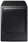 """DVG54M8750V Samsung 27"""" 7.4 cu. ft. Gas Dryer with Integrated Touch Controls and Multi-Steam Technology - Black"""