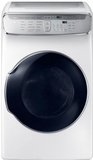 """DVG60M9900W Samsung 27"""" 7.5 cu. ft. Capacity Gas Front Load Dryer With FlexDry and Multi-Steam Technology - White"""
