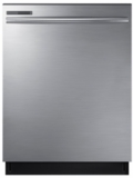 "DW80M2020US Samsung 24"" Top Control Dishwasher with Adjustable Rack and Digital Leak Sensor - Stainless Steel"