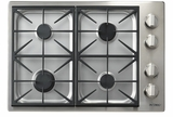 "DYCT304GSLP Dacor 30"" Discovery Gas Cooktop with 4 Burners and Die Cast Knobs - Liquid Propane - Stainless Steel"