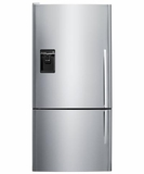 E522BLXU5 Fisher & Paykel Counter Depth Active Smart Bottom Mount Refrigerator with Dispenser & Curved Door - Left Hinged - Stainless Steel