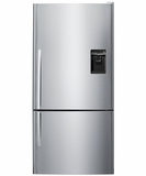 E522BRXU5 Fisher & Paykel Counter Depth Active Smart Bottom Mount Refrigerator with Dispenser & Curved Door - Right Hinged - Stainless Steel