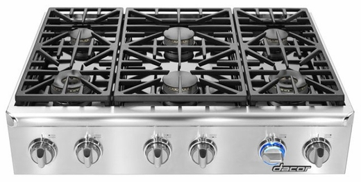 "EG366SCHNG Dacor Discovery 36""  Natural Gas Range Top - Stainless Steel"