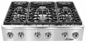 "EG366SCHNG Dacor Renaissance 36""  Natural Gas Range Top - Stainless Steel"