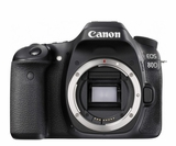 EOS80D Canon 24.2 MP CMOS DSLR Camera with Built in Wi-Fi - Body Only - Black
