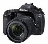 EOS80D18135 Canon 24.2 MP CMOS DSLR Camera with Built in Wi-Fi and 18 - 135mm Lens Included - Black