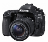EOS80D1855 Canon 24.2 MP CMOS DSLR Camera with Built in Wi-Fi and 18 - 55mm Lens Included