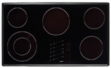 "ETT3652B Dacor Renaissance 36"" Electric Touch Top 5 Element Cooktop - Black"