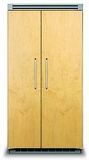 """VCSB5422 Viking 42"""" Built-in Professional Series Side-by-Side Refrigerator with Plasmacluster Ion Air Purifier  - Custom Panel"""