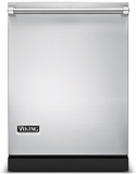 """FDW300WS Viking 24"""" Built-in Dishwasher with 3 Wash Arms & Quiet Clean - Stainless Steel"""