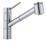 FF2000 Franke Pull-Out Faucet - 1 Hole - Polished Chrome