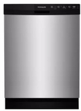"FFBD2412SM Frigidaire 24"" Full Console Built-In Dishwasher with  Sanitize Rinse and Soft Food Disposer - Silver Mist"