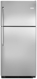 "FFHI2131QS Frigidaire 20.5 Cu. Ft. 30"" Top Freezer Refrigerator with Store-More Capacity - Stainless Steel"