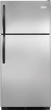 "FFHT1621QS Frigidaire 16.3 Cu. Ft. Top Freezer  28"" Wide Refrigerator Built with American Pride - Stainless Steel"