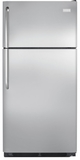 "FFHT1821QS Frigidaire 18 Cu. Ft. Top Freezer 30"" Wide Refrigerator with Humidity Controlled Crisper Drawers - Stainless Steel"