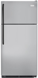 "FFHT2131QM Frigidaire 20.5 Cu. Ft. 30"" Top Freezer Refrigerator with Store More Capacity - Silver Mist"