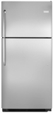"FFHT2131QS Frigidaire 20.5 Cu. Ft. 30"" Top Freezer Refrigerator with Store More Capacity - Stainless Steel"