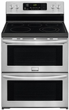 FGEF302TPF Frigidaire Gallery 30'' Freestanding Electric Double Oven Range with Quick Preheat - Stainless Steel
