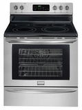 "FGEF3055MF Frigidaire Gallery 30"" Freestanding Electric Range - Smudge-Proof Stainless Steel"