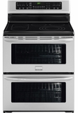 """FGEF308TNF Frigidaire Gallery 30"""" Freestanding Electric Double Oven Range - Smudge-Proof Stainless Steel"""