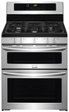 FGGF304DPF Frigidaire Gallery 30'' Freestanding Gas Double Oven Range with True Convection - Stainless Steel