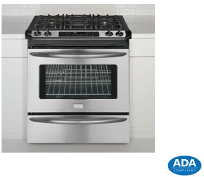 "FGGS3045KF Frigidaire Gallery Premier 30"" Slide-In Gas Range with Cast Iron Grates - Stainless Steel"