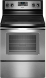WFE320M0AS Whirlpool 4.8 Cu. Ft. Electric Range with Dual Radiant Element - Stainless Steel