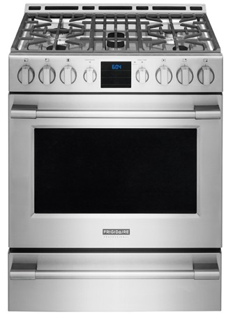 FPGH3077RF Frigidaire Professional 30'' Gas Front Control Freestanding with PowerPlus Convection - Stainless Steel