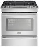"FPGS3085PF Frigidaire Professional 30"" Slide-In Gas Range with Keep Warm Drawer - Smudge-Proof Stainless Steel"