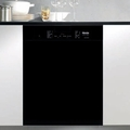 "G5105BL Miele 24"" Futura Crystal Series Dishwasher with Cutlery Tray - Black"