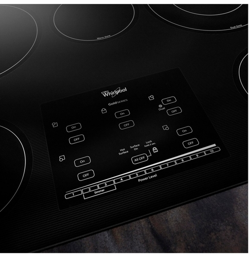 "G9CE3065XB Whirlpool Gold 30"" Electric Cooktop - Black"