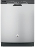 GDF520PSJSS GE Dishwasher with Front Controls & Steam PreWash - Stainless Steel