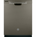 GDF540HMFES GE Hybrid Stainless Steel Interior Dishwasher with Front Controls - Slate