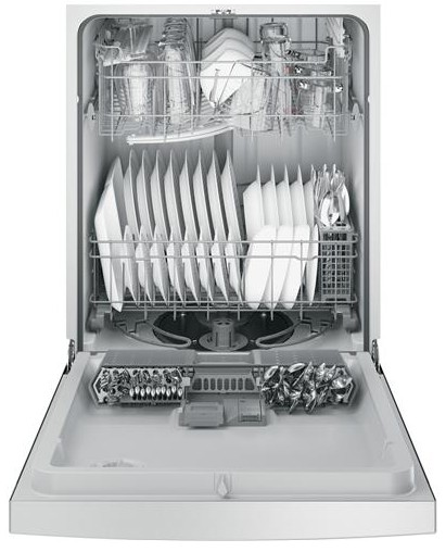 """GDF610PSJSS GE 24"""" Front Control Dishwasher With Bottle"""