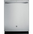 GDT580SSFSS GE Stainless Steel Interior Dishwasher with Hidden Controls - Stainless Steel