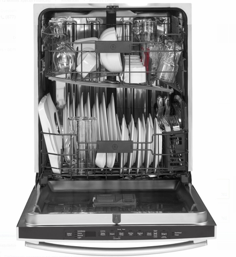 """GDT655SGJWW GE 24"""" Fully Integrated Dishwasher With 16"""