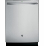 GDT680SSHSS GE Stainless Steel Interior Dishwasher with Hidden Controls with Bottle Wash Jets - Stainless Steel