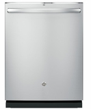 "GDT695SSJSS GE 24"" Stainless Steel Interior Dishwasher with Hidden Controls and Third Rack - Stainless Steel"