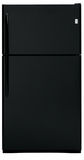 GE Top-Freezers - Free Standing - BLACK